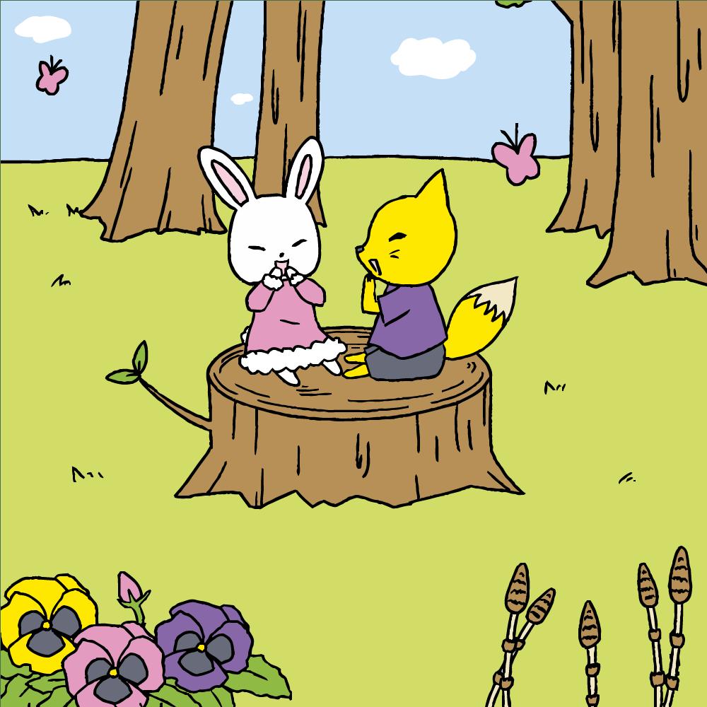 春日和うさぎときつねの談話